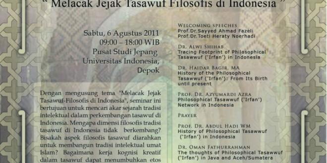 Seminar Jejak Tasawuf Filosofis Indonesia