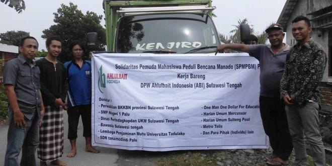 Satu Truk Bantuan Untuk Korban Banjir Manado