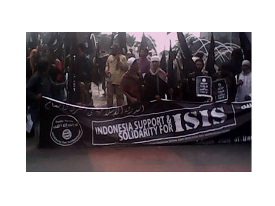 Pendukung ISIS di Bundaran Hotel Indonesia