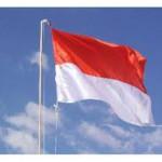 Bendera Merah Putih di Langit Biru