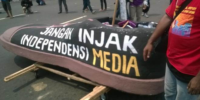 Demo Wartawan Di Hari Buruh Internasional