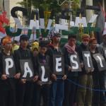 Bendera Palestina di Gedung Sate Bandung Tandai Peringatan Al-Quds Internasional
