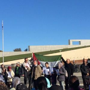 Aksi Demo Bela Palestina di Canberra Australia