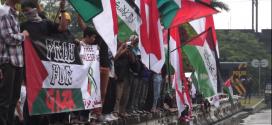 Demo solidaritas Untuk Palestina di Kedubes AS