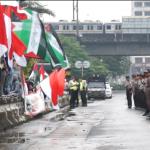 Aksi Solidaritas Palestina di Kedubes Amerika