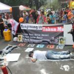 Kampanye 10 tahun Wafat Munir Di Acara Car Free Day
