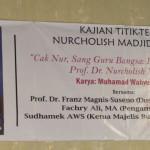Hadir ((dr kanan) Fachry Ali, Sudhamek AWS dan Franz Magnis Suseno)