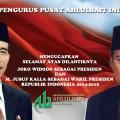 Ucapan selamat untuk pelantikan Jokowi dan Jusuf Kalla