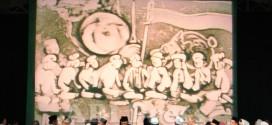 Berita Foto: Lukisan Pasir dalam Peringatan 5 Tahun Wafatnya KH. Abdurrahman Wahid