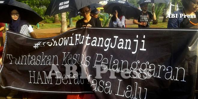 Aksi Kamisan Tuntut Negara Atasi Macet Penuntasan Kasus HAM