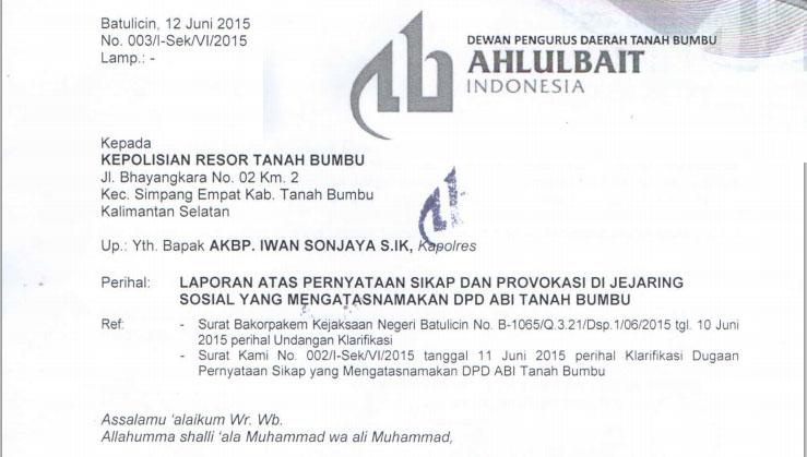 Klarifikasi Atas Akun Palsu Pencatut Nama DPD ABI Tanah Bumbu