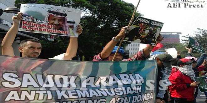 Aliansi Anti Perang (A2P) Kembali Demo Kedubes Arab Saudi