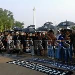 Semangat Sumpah Pemuda Warnai Aksi Kamisan ke-417 di Depan Istana