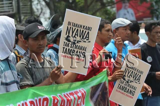 Api Perlawanan Salim Kancil di Banten
