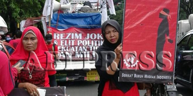 Peringati Hari Buruh Migran Internasional, Massa Demo Kedubes Saudi di Jakarta