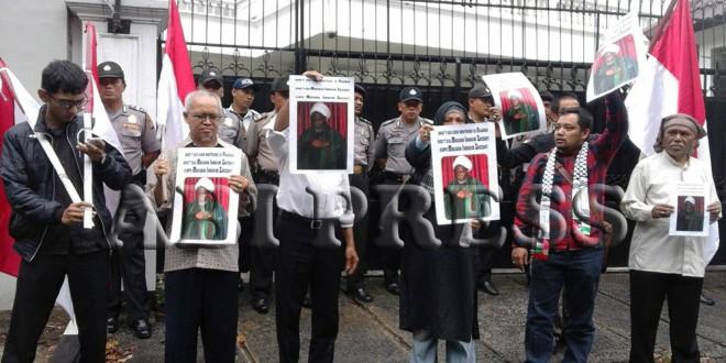 Massa Demo Kedubes Nigeria Desak Rezim Abuja Stop Persekusi Muslim
