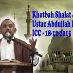 Video : Khotbah Salat Jumat oleh Ustaz Abdullah Beik