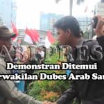 Wakil Dubes Saudi Temui Demonstran