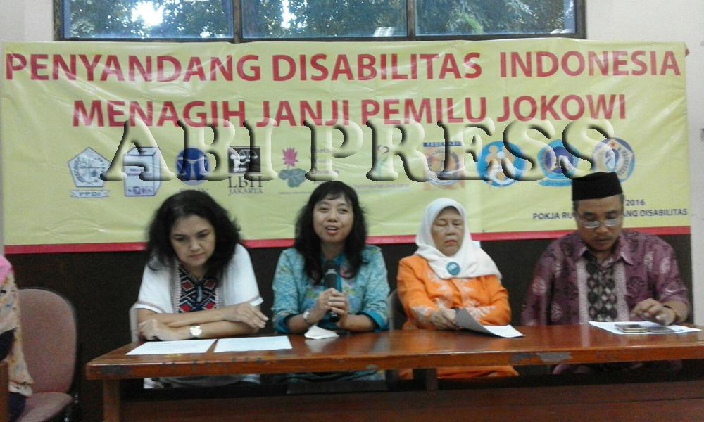 Penyandang Disabilitas Tagih Janji Kampanye Jokowi