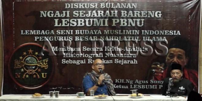 Agus Sunyoto: Lebih Kritislah Membaca Sejarah Nusantara