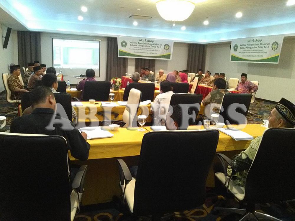 Kemenag Gelar Workshop Validasi Terjemahan Alquran Bahasa Mongondow