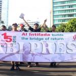 VOP Galang Aksi Tanda Tangan Solidaritas Untuk Palestina di Bundaran HI
