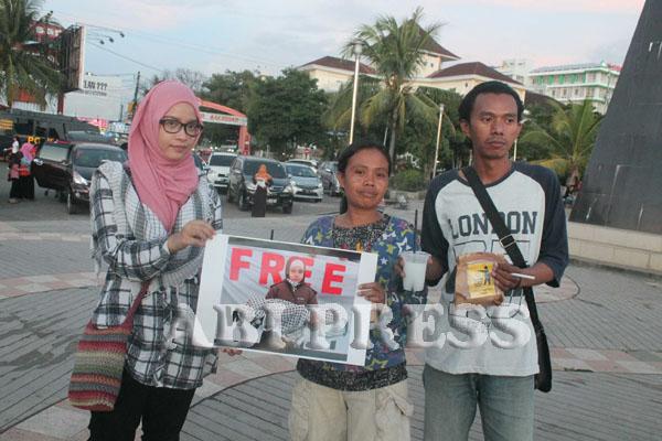 Peringatan Yaumul Quds yang unik di Pantai Losari Makassar