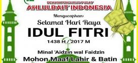 DPP Ahlulbait Indonesia Mengucapkan Selamat Idul Fitri 1438 H