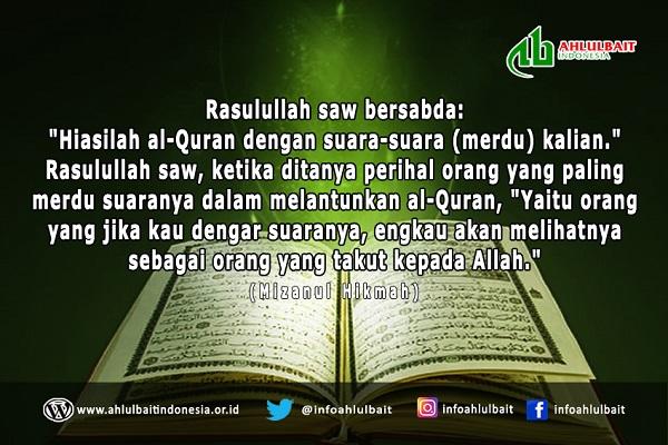 Menghiasi al-Qur'an dengan Suara Merdu