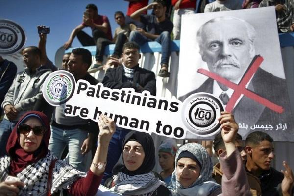 Ribuan Warga Palestina Protes 100 Tahun Deklarasi Balfour