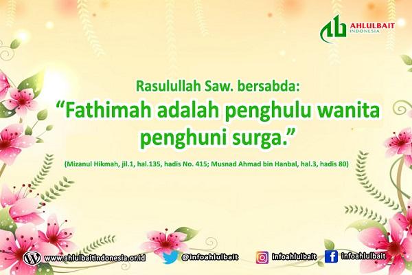 Fatimah Az Zahra Penghulu Wanita Penghuni Surga
