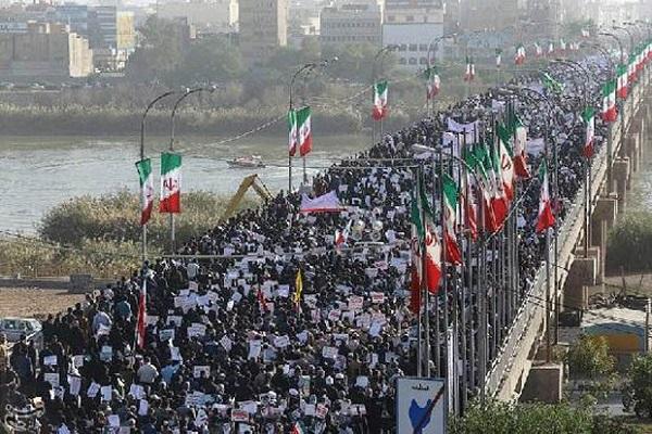 Unjuk rasa mendukung pemerintah RII, Rabu (3/1/2018)