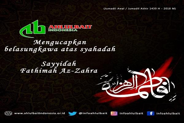 Ucapan Belasungkawa Atas Syahadahnya Fathimah Az Zahra A S