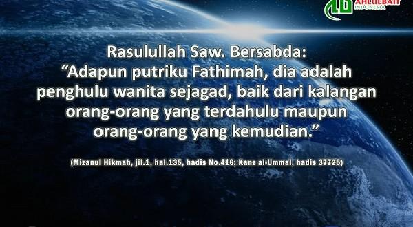 Keagungan Fatimah Az-Zahra as