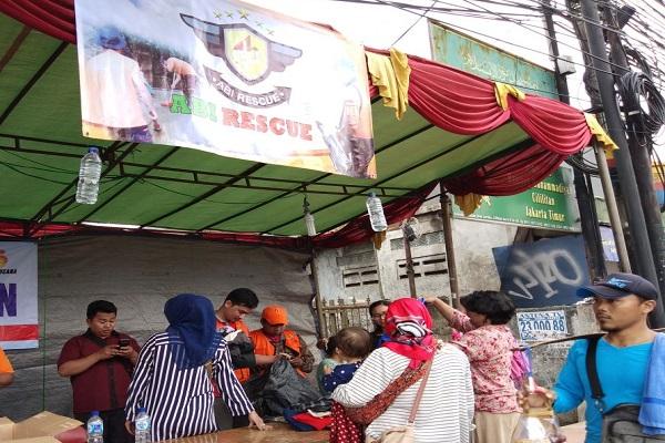 Posko Banjir ABI Rescue di Cililitan, Jakarta Timur