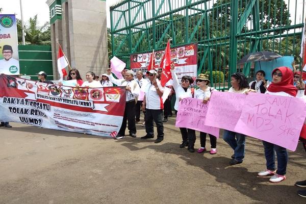 Aksi Massa Tolak UU MD3