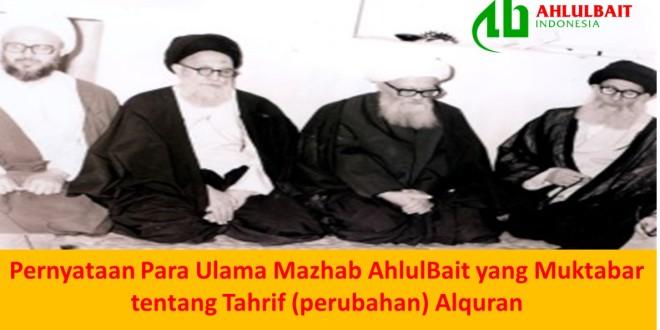 Pernyataan Para Ulama Mazhab Ahlulbait yang Muktabar ...