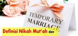 Definisi Nikah Mut'ah dan Dasar Hukumnya