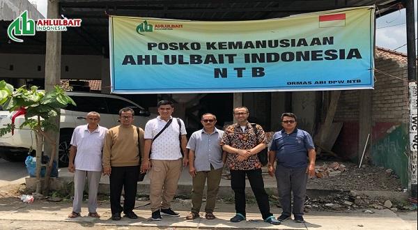 Tim Dewan Pengurus Pusat Ahlulbait Indonesia (DPP ABI) Mengunjungi Posko Relawan ABI di NTB