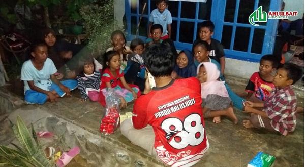 Kegiatan Trauma Healing untuk Korban Gempa & Tsunami oleh Pandu Ahlulbait