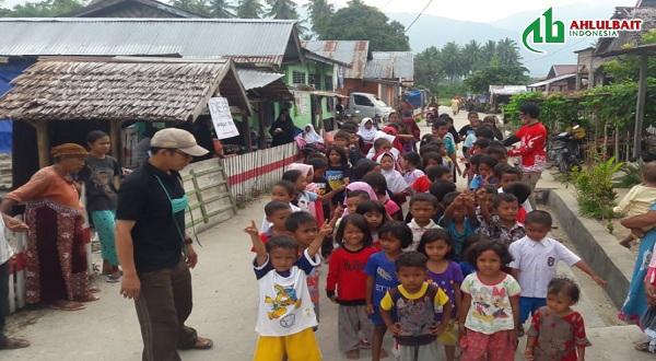 Tim Ahlulbait Indonesia Peduli Mendampingi Anak-anak Korban Gempa Sigi