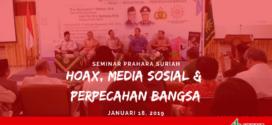 Seminar Prahara Suriah: Hoax, Media Sosial dan Perpecahan Bangsa