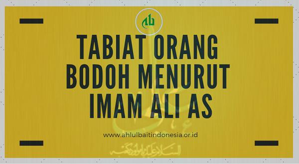 Tabiat Orang Bodoh Menurut Imam Ali AS