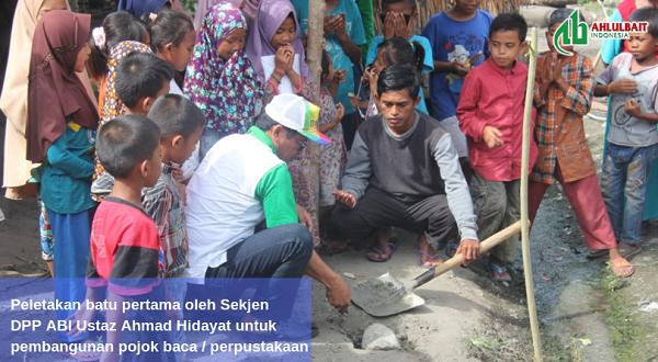 DPP Ahlulbait Indonesia Menyerahkan Bantuan untuk Pembangunan Pojok Baca Desa di Sigi