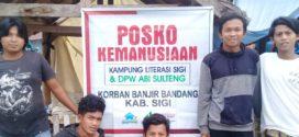 DPW ABI Sulawesi Tengah Buka Posko Banjir di Kabupaten Sigi