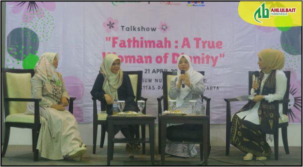 Talk Show 'Fathimah a True Woman of Dignity' di Universitas Paramadina, Jakarta