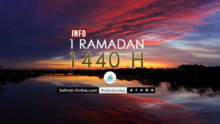 Info 1 Ramadan 1440 H