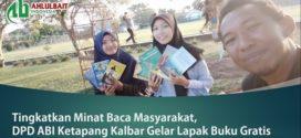 Tingkatkan Minat Baca Masyarakat, DPD ABI Ketapang Kalbar Gelar Lapak Buku Gratis