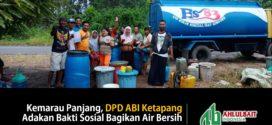 Kemarau Panjang, DPD ABI Ketapang Adakan Bakti Sosial Bagikan Air Bersih