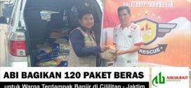 ABI Bagikan 120 Paket Beras untuk Warga Terdampak Banjir di Cililitan – Jaktim